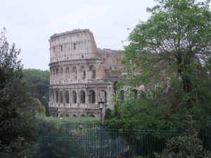 The Colosseum is one of the most famous monuments in Rome.  Photo by Dror Feitelson
