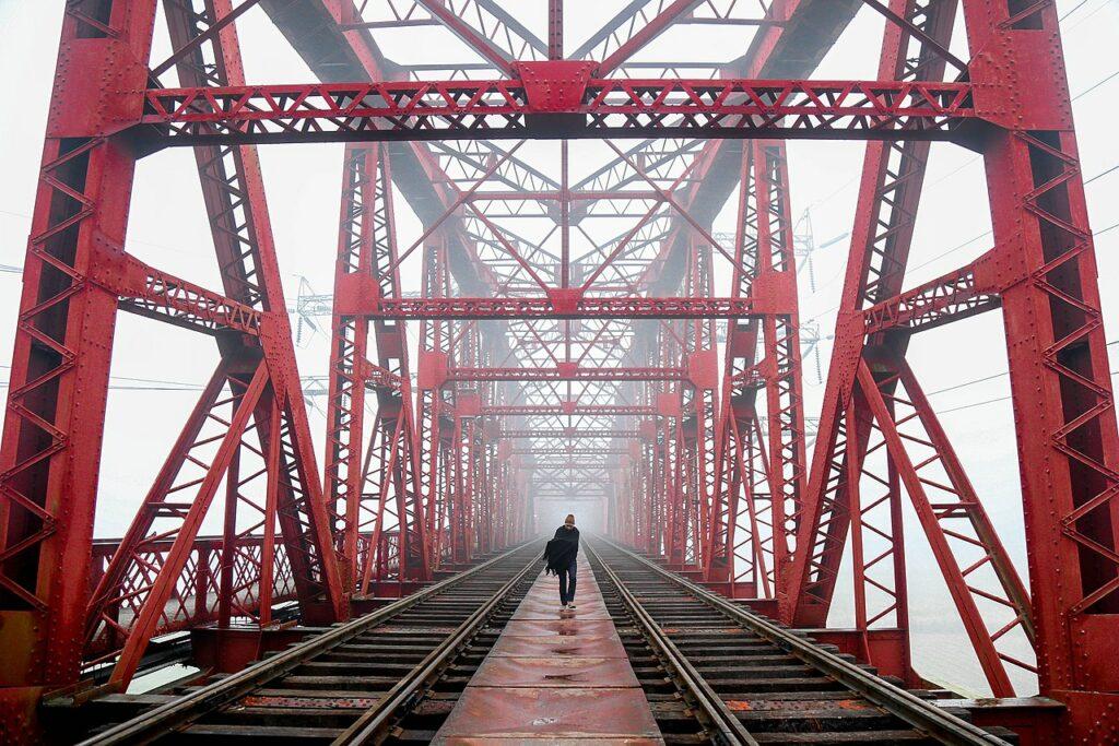 15-е: Міст Гардінга через річку Падма, Пабна, Бангладеш