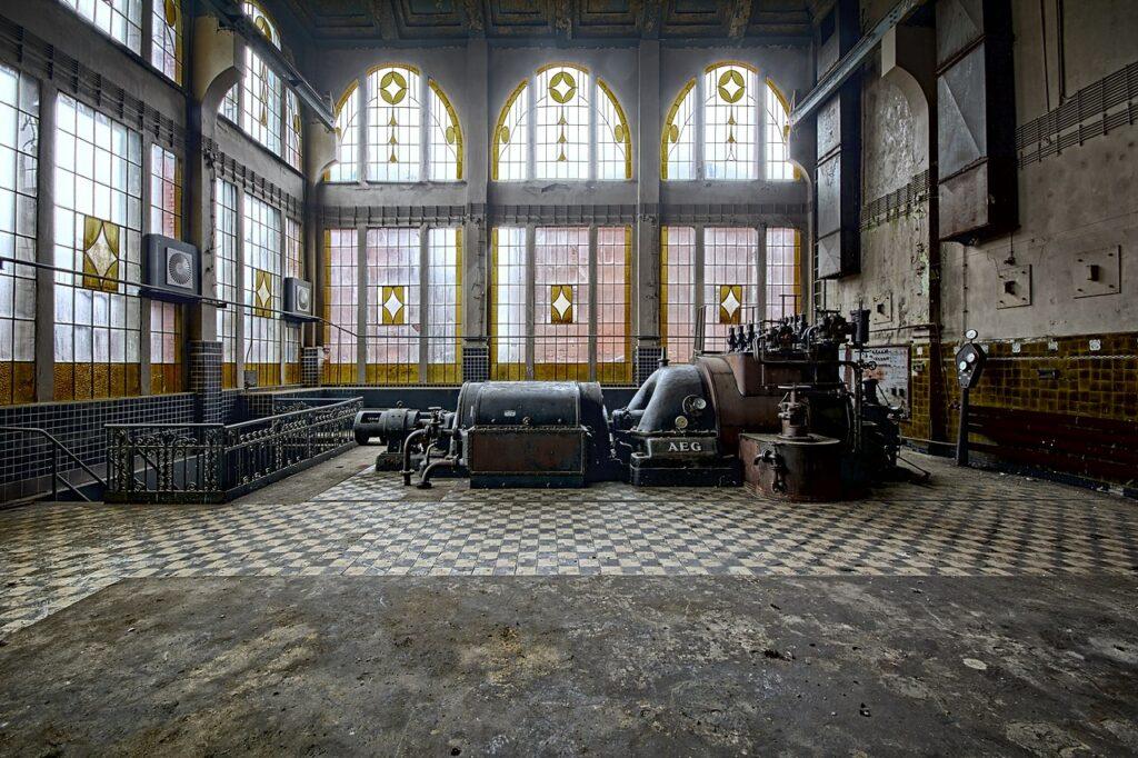 7-е-місце: Електростанція фабрики Шайблера і Громана, Старий Відзев, Лодзь, Польща.